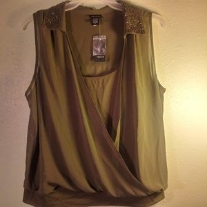 New With Tags Torrid Olive Green Blouse